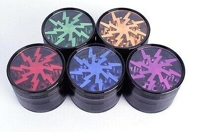 "Herb grinder by lightning, 2 1/2"" alum 4 piece US SELLER SAME DAY SHIP"