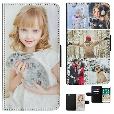 Photo Phone Case Personalised Picture Collage Flip Wallet Cover