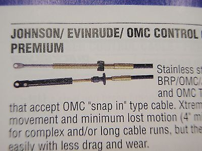 Cable CC17007 New Johnson Evinrude Old Style Throttle//Shift 7 Ft