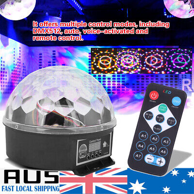 Disco Party DJ LED Stage Effect Light Lamp Laser Crystal Magic Ball DMX512 AU