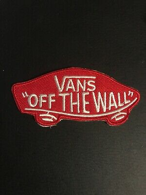 """Logo of VANS off The Wall Embroidered applique iron on 3.25"""" x 1.5"""" Patch"""