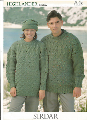Sirdar DK Knitting Pattern Ladies Or Men/'s Jumper Size 28//46/""