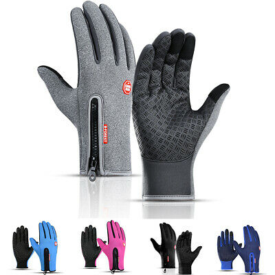 Winter Warm Gloves Touch Screen Thermal Anti-Slip Windproof for Running Skiing