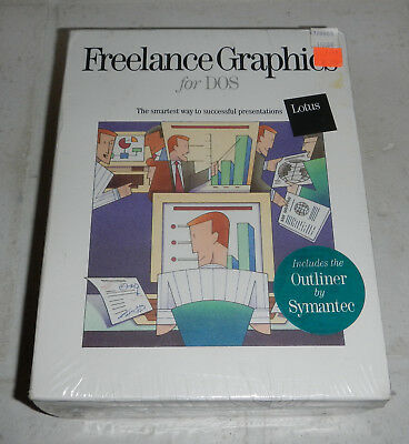 Sealed Lotus Freelance Graphics for DOS Standard Edition Release 4.0 Software