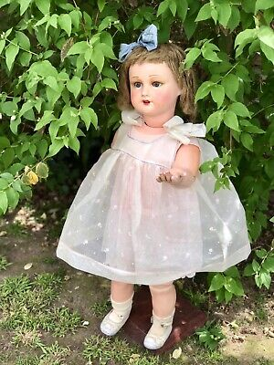 """Antique  French Composition Doll UNIS FRANCE (32"""" Tall)"""