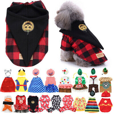 Fun Fancy Clothing Pet Dog Cat Costumes Party Cosplay Fancy Dress Clothes Outfit