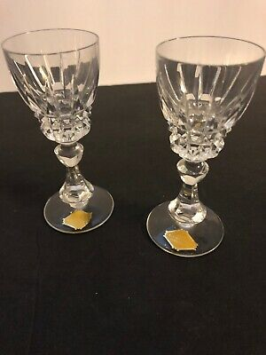 Echt Bleikristall Shot Glasses Lot Of 2 ,4 1/2 Inches Tall