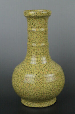 A Fine Collection of Chinese 12thC Song Ge Ware Porcelain Vase Matrass