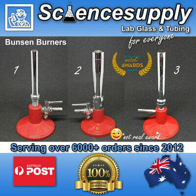 Bunsen burner 3 types heating chemistry scientific equipment laboratory