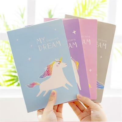 Cartoon Unicorn Notebook Cute Soft Cover Diary Journal Travel Book Stationery