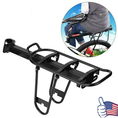 Hot Bike Rear Pannier Rack Connector Carry Carrier Seatpost Bicycle Adapter OS