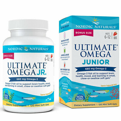 Nordic Naturals Ultimate Omega Junior - Strawberry Soft Gel for Developing Kids
