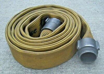 """Fire Hose 20' Angus Premium Solid Rubber with 2-1/2"""" couplings Surplus Used"""