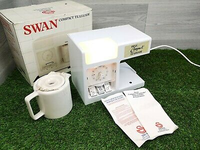 Vintage Swan Compact Teasmade Model No.10887 with Original Box & Instructions