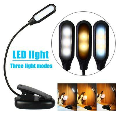 Reading Light 5 LED 3 Brightness Modes Clip On Book Light USB Rechargeable