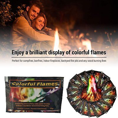 Mystical Fire 24 pkts - Magical Fire Colourful Color Changing Flames Campfire rS