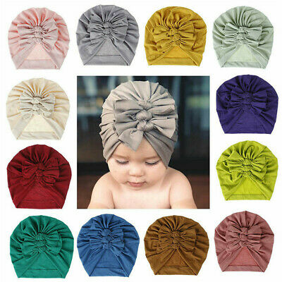 Newborn Headband Hat Cotton Baby Turban Knot Headband Head Wrap For Girls~~