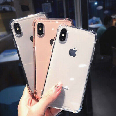 Ultra Slim Shockproof Silicone Clear Cover Case for iPhone XR XS MAX X 8 7 Plus