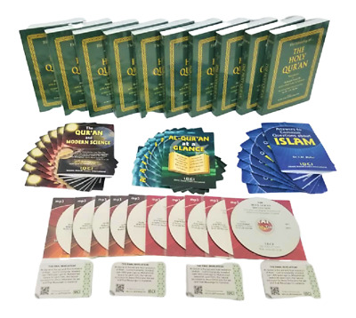QURAN FOR ALL: Dawah Starter Pack - 10 Holy Quran/10 MP3 CD's/30 Booklets