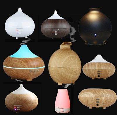LED Oil Ultrasonic Aroma Aromatherapy Diffuser Air Humidifier Purifier Fragrance