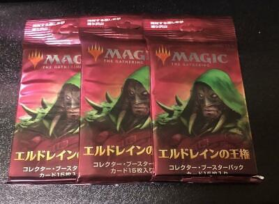 MTG Throne of Eldraine Collector Booster pack 3 pack Japanese ver.