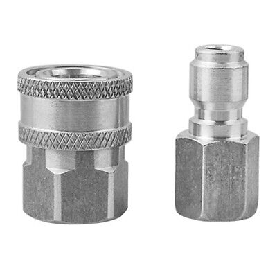 Quick Connector Coupling Adapter Car Clean Washing Pressure Washer Stainless Car