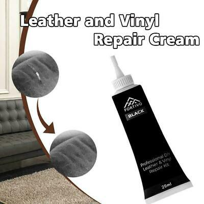 Black Leather and Vinyl Repair Kit For Couch, Furniture, Seats, Sofa, Car J D9G6