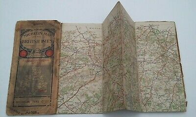 Vintage Michelin Map of the British Isles, number 21 - Southampton to Brighton.