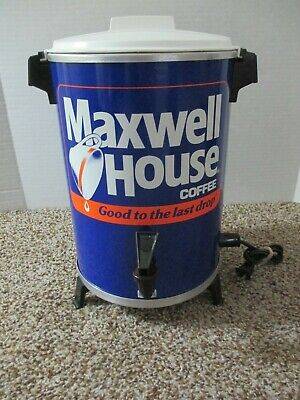 Vintage West Bend Large Maxwell House Coffee Pot 30 Cup Percolator Usa Made Euc