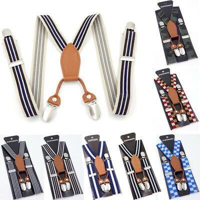 New Adjustable Vintage Floral Trouser Braces Y back Elastic Kids Suspender