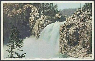"Yellowstone Parque, USA Superior Cascadas de Yellowstone. Vintage ""Phostint"" PC"