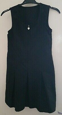 BACK TO SCHOOL Black Girls School Pinafore  7-8 yrs old
