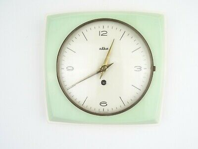 Repair German Junghans Vintage Ceramic Kitchen Wall Clock (Kienzle Mauthe era)