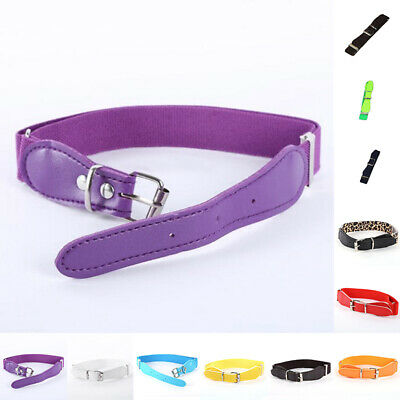 Metal Belt Pin Cut High Girl Adjustable Buckle PU Leather Children Elastic Girls