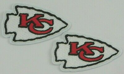 Kansas City Chiefs Iron On Embroidered Patch  NFL Set of 2 Made In The USA