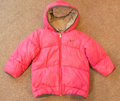 Nike Girls Padded Puffa Jacket Coat Age 2-3 Years Pink BNWOT   4/14