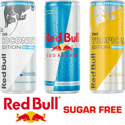 Red Bull Sugar Free Sports RedBull Energy Drink 6 / 12 / 24 x 250ml Cans