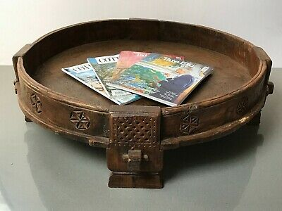 Antique Vintage Indian Furniture. Spice Grinding Chakki Table. Coffee Table?