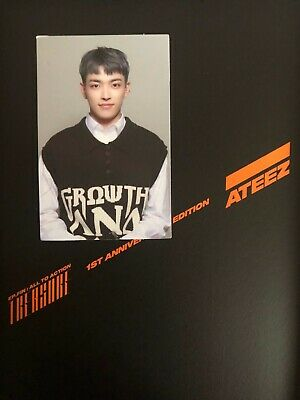 Ateez treasure 1st anniversary edition w/ Hongjoong photo card