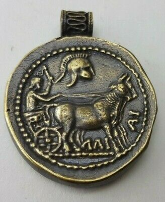 Ancient  Roman Bronze-in original style  Amulet  medallion Thracian
