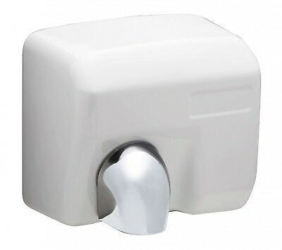 Automatic Hand Dryer DM2400W - Robust Casing in White, Vandal-Proof
