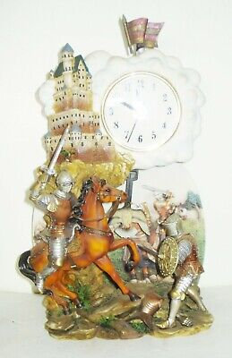 Vintage Herco Gift Professional Clock Victorian Medieval Knight Design Nr