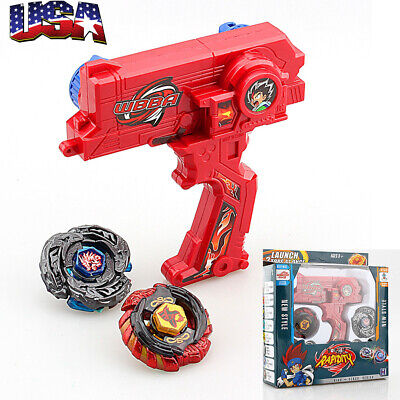Rare 4D Launcher Kids Grip Set Metal Master Fusion Top Rapidity Fight Toys Gift