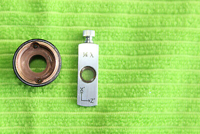 Zeiss Microscope Prism Slider with Holder 1/4 LAMBDA DIC