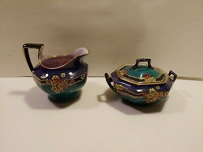 Rare Royal Winton Grimwades Chintz Creamer and Sugar. Exclusive Pattern