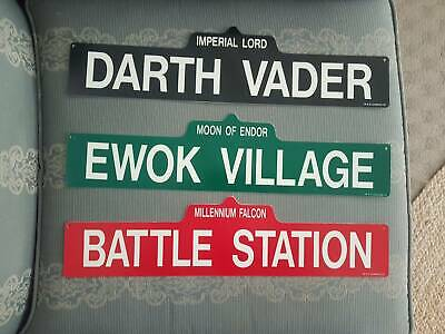 Starwars Signs 3 X Plastic Signs 46 Cm Long Never Used