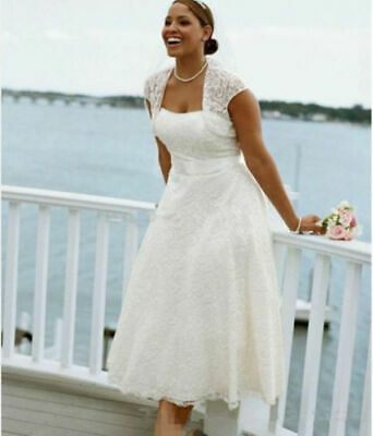 VINTAGE TEA LENGTH Custom Made Wedding Dress in Shantung ...