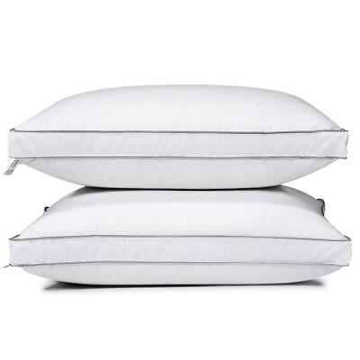 Feather Goose Down Bed Pillow Set of 2 Pillows Bedding Set Queen King Size