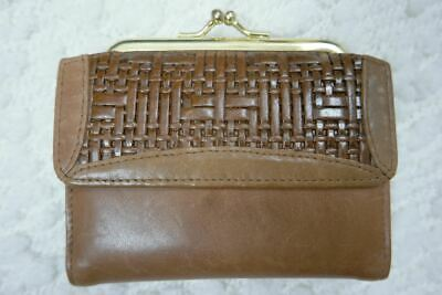 BUXTON brown vintage 1970's 100% leather heiress french wallet purse BNWT