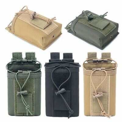 Outdoor Molle Tactical Military Radio Walkie Talkie Holder Bag EDC Pouch Pocket